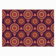 Abstract Seamless Mandala Background Pattern Large Glasses Cloth