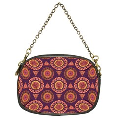 Abstract Seamless Mandala Background Pattern Chain Purses (two Sides)