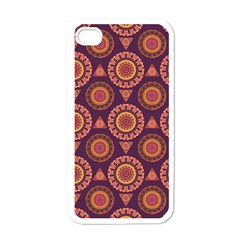 Abstract Seamless Mandala Background Pattern Apple Iphone 4 Case (white)