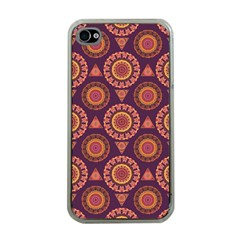 Abstract Seamless Mandala Background Pattern Apple iPhone 4 Case (Clear)