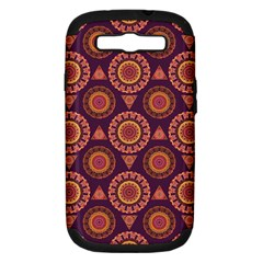 Abstract Seamless Mandala Background Pattern Samsung Galaxy S Iii Hardshell Case (pc+silicone)