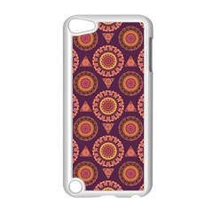 Abstract Seamless Mandala Background Pattern Apple iPod Touch 5 Case (White)