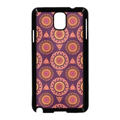 Abstract Seamless Mandala Background Pattern Samsung Galaxy Note 3 Neo Hardshell Case (Black)