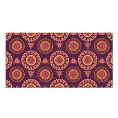 Abstract Seamless Mandala Background Pattern Satin Shawl