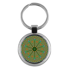 Vibrant Seamless Pattern  Colorful Key Chains (Round)