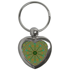 Vibrant Seamless Pattern  Colorful Key Chains (heart)