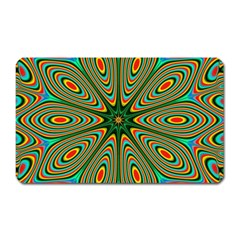 Vibrant Seamless Pattern  Colorful Magnet (rectangular)