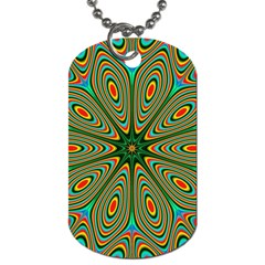 Vibrant Seamless Pattern  Colorful Dog Tag (one Side)