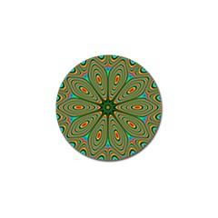 Vibrant Seamless Pattern  Colorful Golf Ball Marker