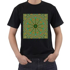 Vibrant Seamless Pattern  Colorful Men s T-Shirt (Black) (Two Sided)