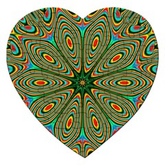 Vibrant Seamless Pattern  Colorful Jigsaw Puzzle (heart)
