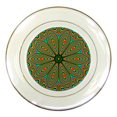 Vibrant Seamless Pattern  Colorful Porcelain Plates
