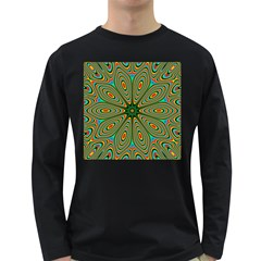 Vibrant Seamless Pattern  Colorful Long Sleeve Dark T Shirts
