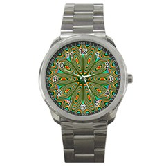Vibrant Seamless Pattern  Colorful Sport Metal Watch
