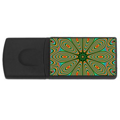 Vibrant Seamless Pattern  Colorful Usb Flash Drive Rectangular (4 Gb)