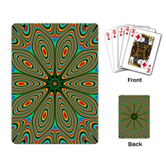 Vibrant Seamless Pattern  Colorful Playing Card