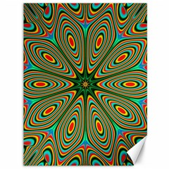 Vibrant Seamless Pattern  Colorful Canvas 36  x 48