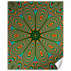 Vibrant Seamless Pattern  Colorful Canvas 11  X 14