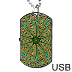 Vibrant Seamless Pattern  Colorful Dog Tag USB Flash (One Side)