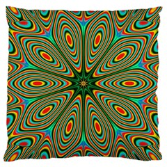Vibrant Seamless Pattern  Colorful Large Cushion Case (Two Sides)