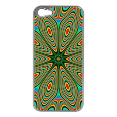 Vibrant Seamless Pattern  Colorful Apple iPhone 5 Case (Silver)