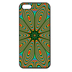 Vibrant Seamless Pattern  Colorful Apple Iphone 5 Seamless Case (black)