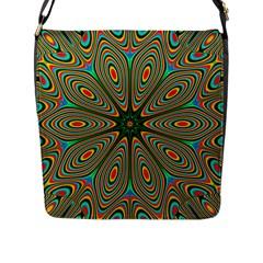Vibrant Seamless Pattern  Colorful Flap Messenger Bag (L)