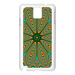Vibrant Seamless Pattern  Colorful Samsung Galaxy Note 3 N9005 Case (White)