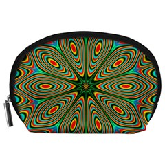 Vibrant Seamless Pattern  Colorful Accessory Pouches (Large)
