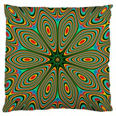 Vibrant Seamless Pattern  Colorful Large Flano Cushion Case (Two Sides)