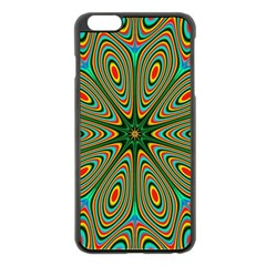 Vibrant Seamless Pattern  Colorful Apple iPhone 6 Plus/6S Plus Black Enamel Case