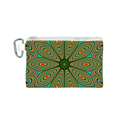 Vibrant Seamless Pattern  Colorful Canvas Cosmetic Bag (S)