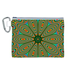 Vibrant Seamless Pattern  Colorful Canvas Cosmetic Bag (L)