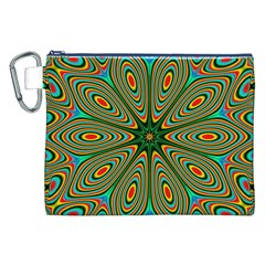 Vibrant Seamless Pattern  Colorful Canvas Cosmetic Bag (XXL)