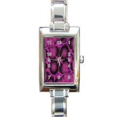 Self Similarity And Fractals Rectangle Italian Charm Watch