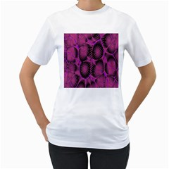 Self Similarity And Fractals Women s T Shirt (white) (two Sided)