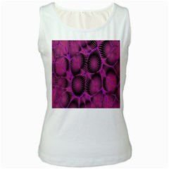 Self Similarity And Fractals Women s White Tank Top