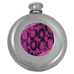 Self Similarity And Fractals Round Hip Flask (5 oz)