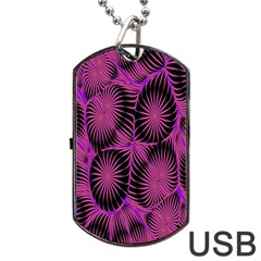 Self Similarity And Fractals Dog Tag USB Flash (One Side)