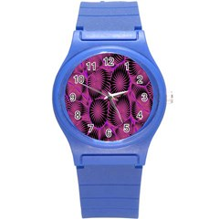 Self Similarity And Fractals Round Plastic Sport Watch (S)