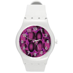 Self Similarity And Fractals Round Plastic Sport Watch (M)