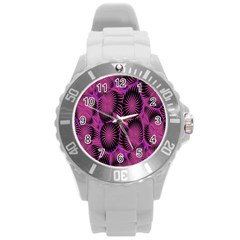 Self Similarity And Fractals Round Plastic Sport Watch (l)