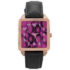 Self Similarity And Fractals Rose Gold Leather Watch