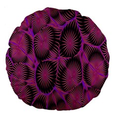 Self Similarity And Fractals Large 18  Premium Flano Round Cushions
