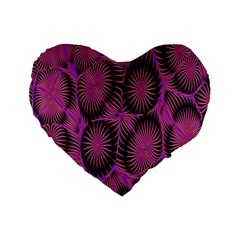 Self Similarity And Fractals Standard 16  Premium Flano Heart Shape Cushions