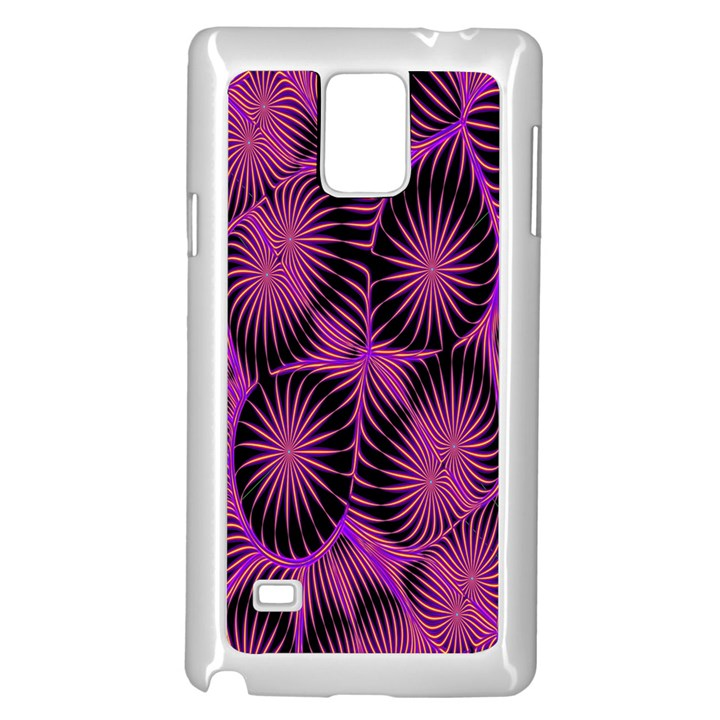 Self Similarity And Fractals Samsung Galaxy Note 4 Case (White)
