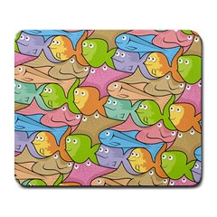 Fishes Cartoon Large Mousepads