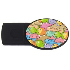 Fishes Cartoon USB Flash Drive Oval (2 GB)