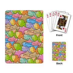 Fishes Cartoon Playing Card