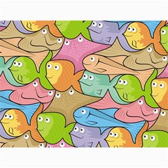 Fishes Cartoon Canvas 18  x 24